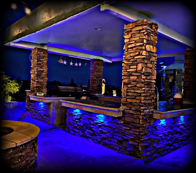Blue bar lighting design