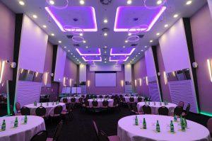 Beautiful purple led lighting